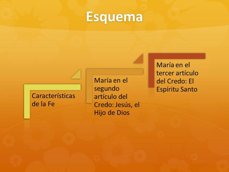 Esquema María en el tercer artículo del Credo: El Espíritu Santo