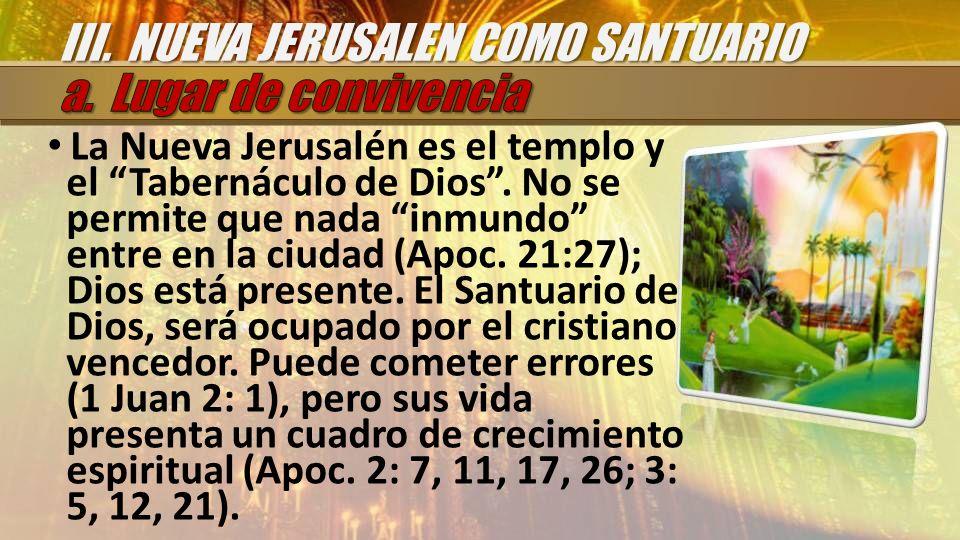 III. NUEVA JERUSALEN COMO SANTUARIO