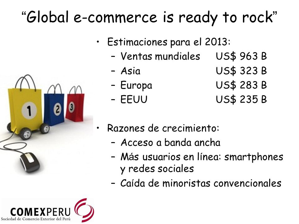 Global e-commerce is ready to rock
