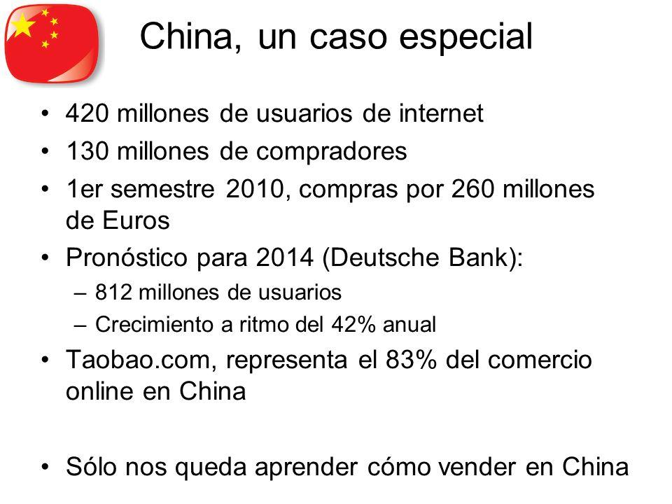 China, un caso especial 420 millones de usuarios de internet