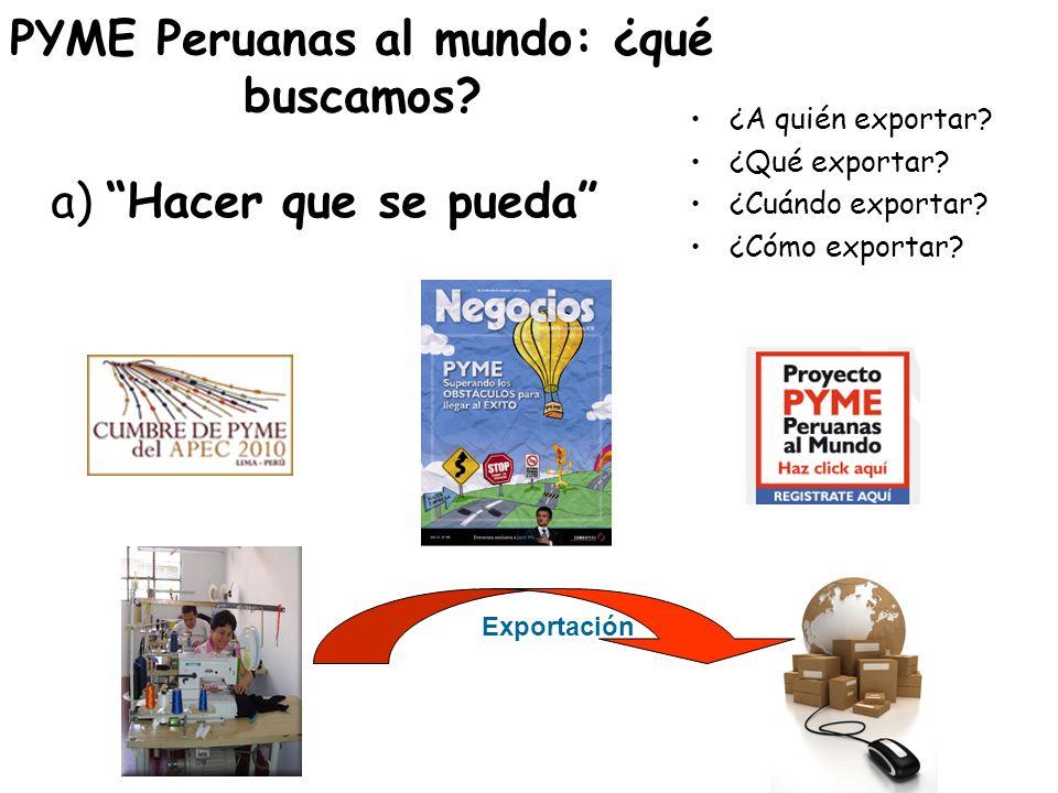 PYME Peruanas al mundo: ¿qué buscamos