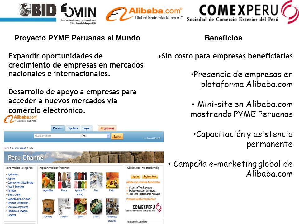 Proyecto PYME Peruanas al Mundo