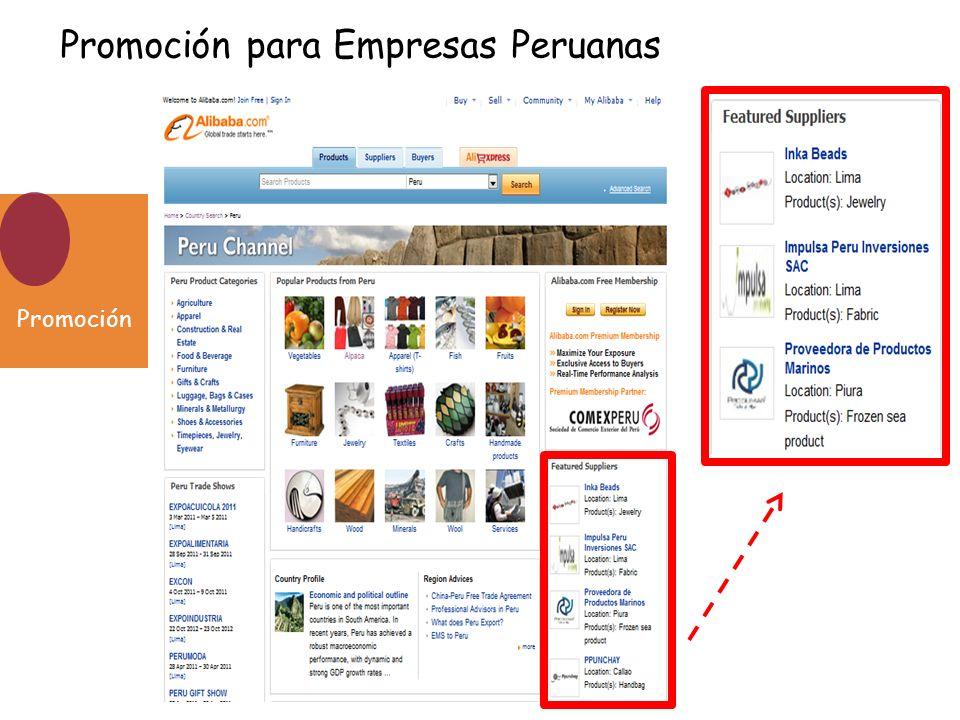 Promoción para Empresas Peruanas