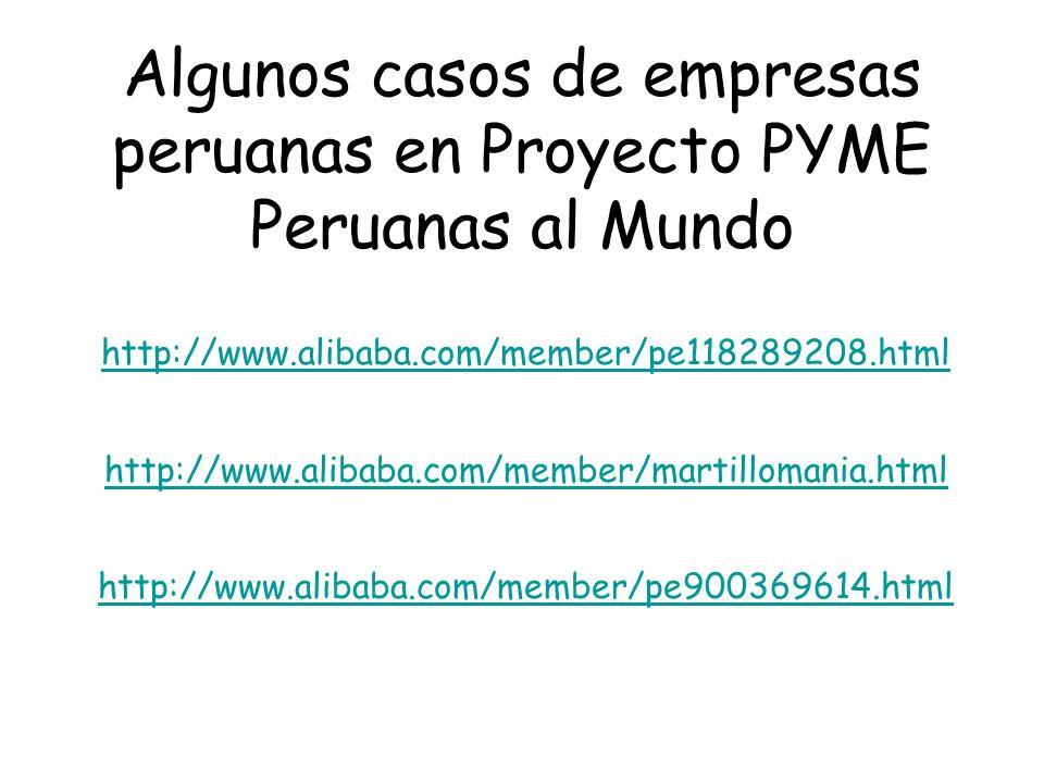 Algunos casos de empresas peruanas en Proyecto PYME Peruanas al Mundo