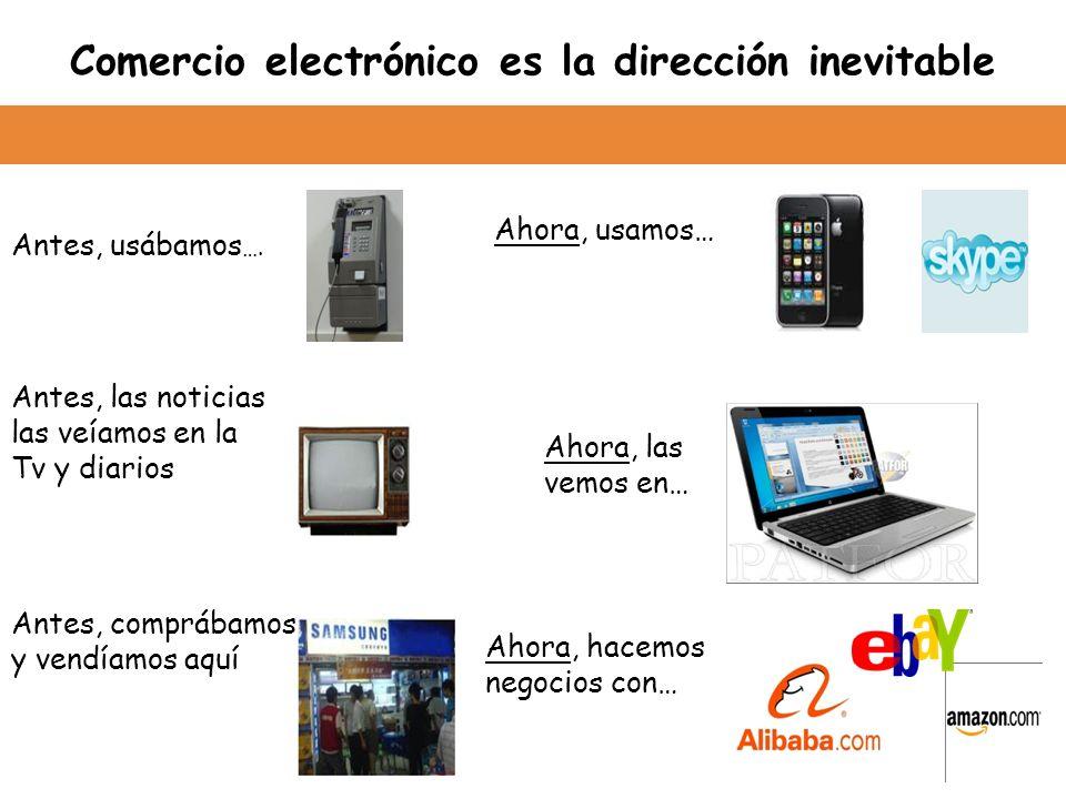 Comercio electrónico es la dirección inevitable