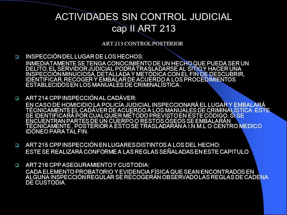 ACTIVIDADES SIN CONTROL JUDICIAL cap II ART 213