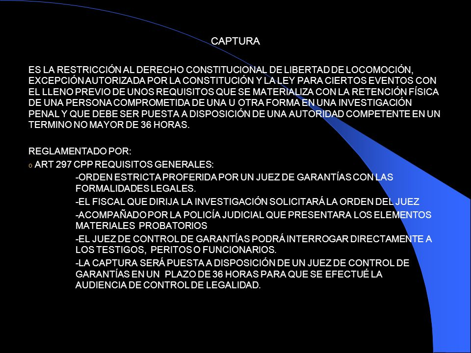 CAPTURA