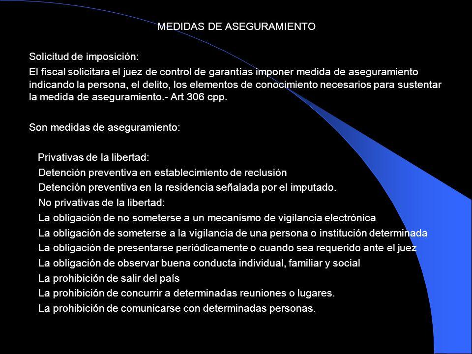 MEDIDAS DE ASEGURAMIENTO