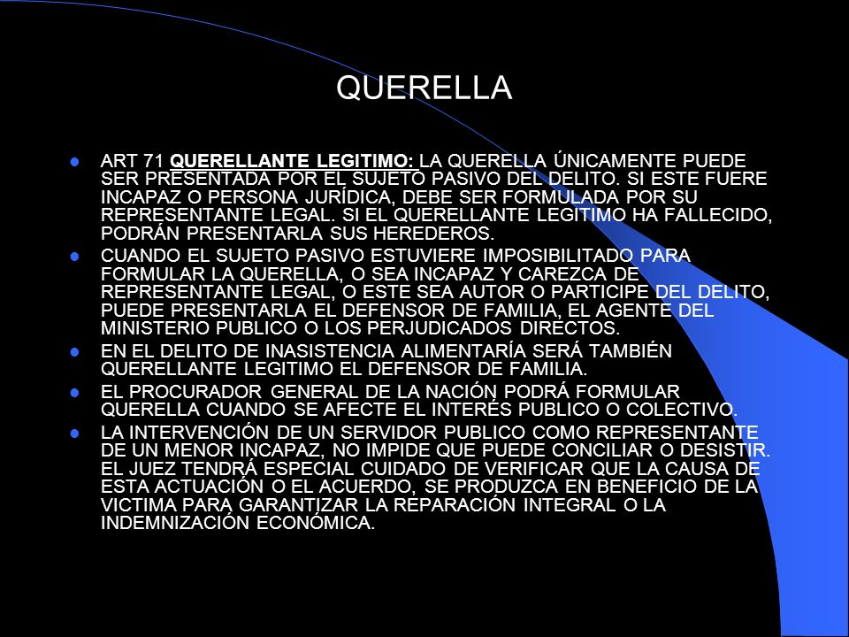 QUERELLA