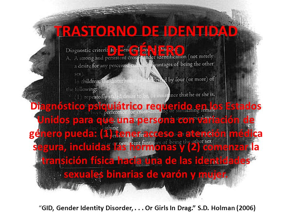 TRASTORNO DE IDENTIDAD DE GÉNERO