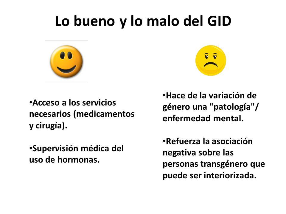 Lo bueno y lo malo del GID