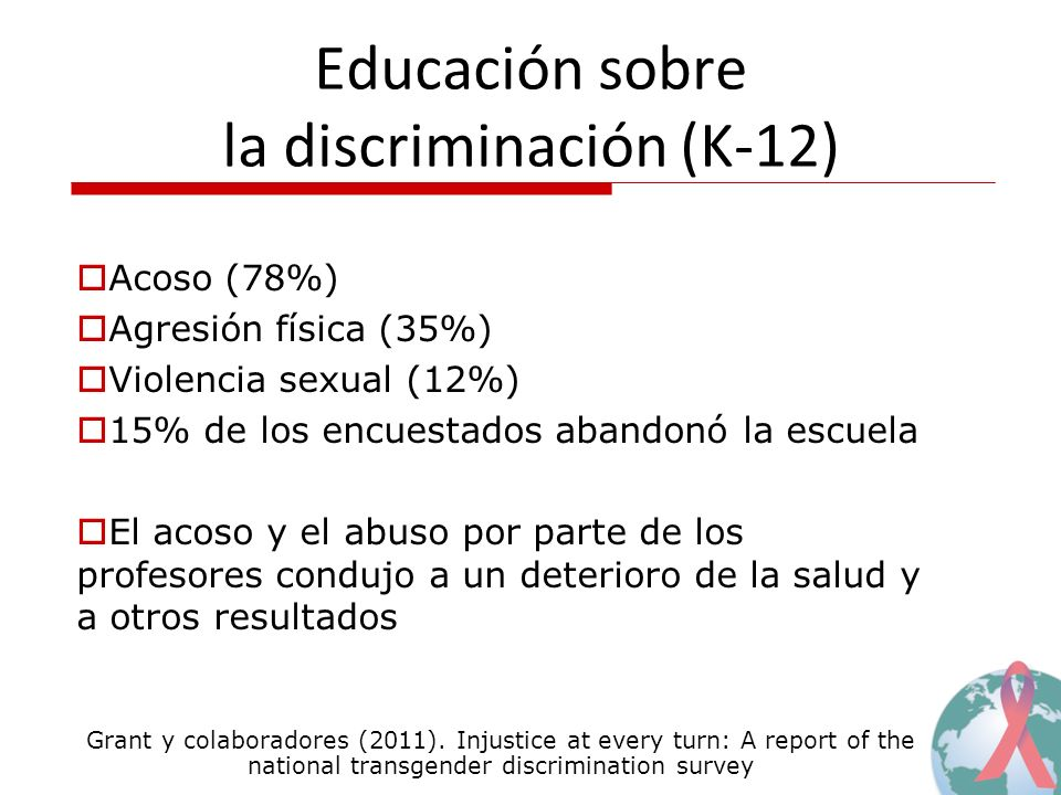 Educación sobre la discriminación (K-12)