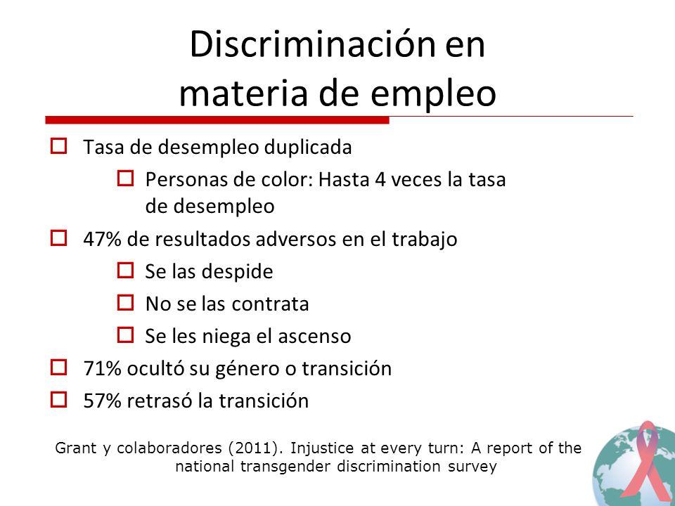 Discriminación en materia de empleo