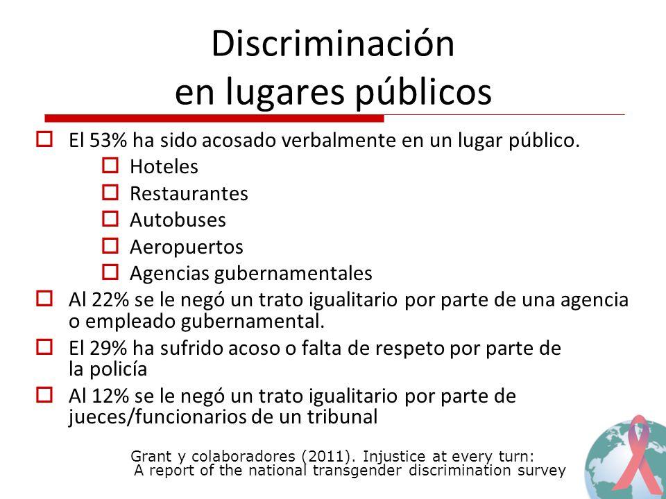 Discriminación en lugares públicos