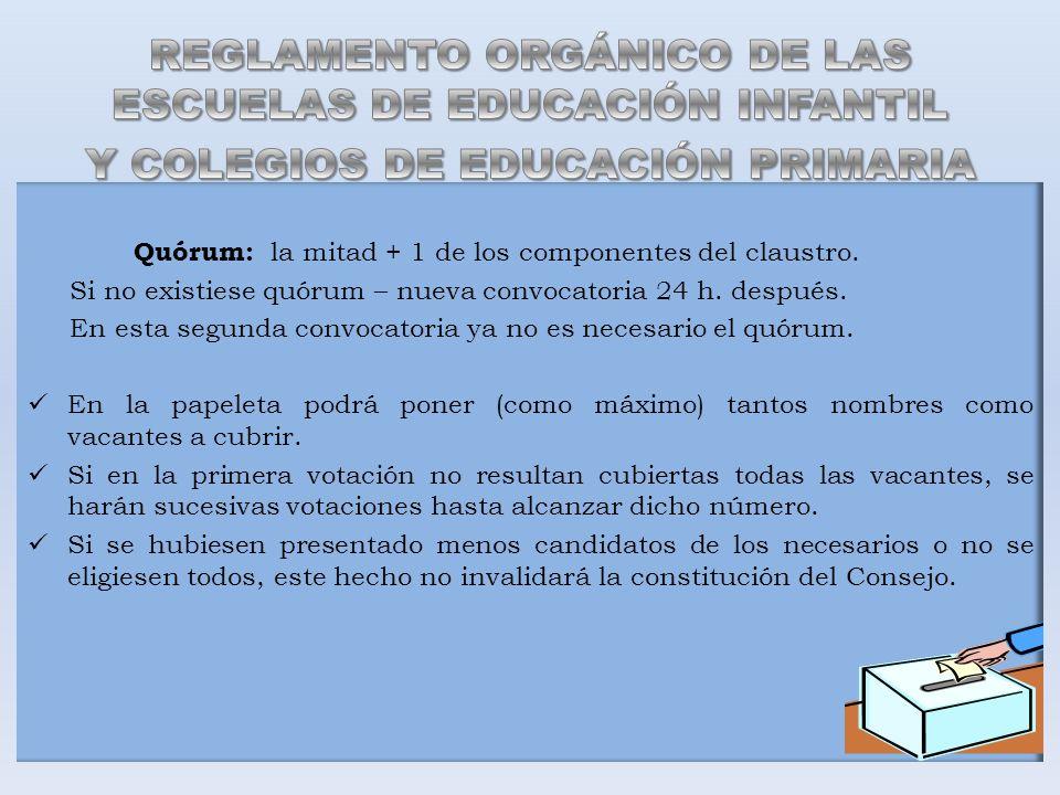 REGLAMENTO ORGÁNICO DE LAS ESCUELAS DE EDUCACIÓN INFANTIL