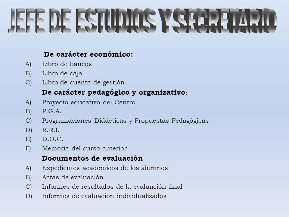 JEFE DE ESTUDIOS Y SECRETARIO