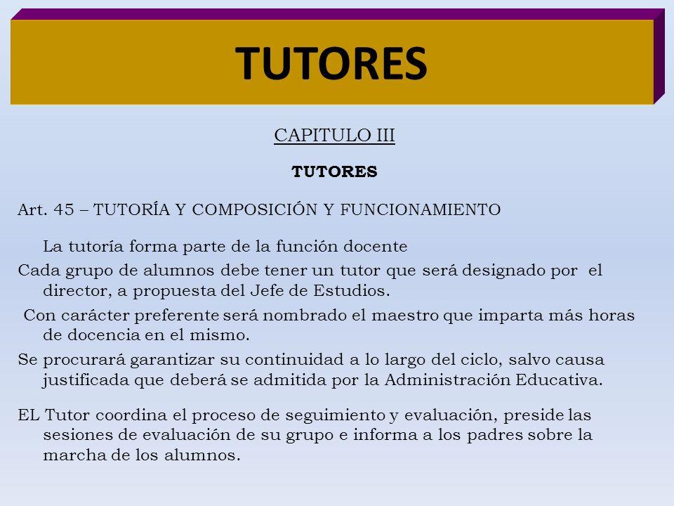 TUTORES CAPITULO III TUTORES