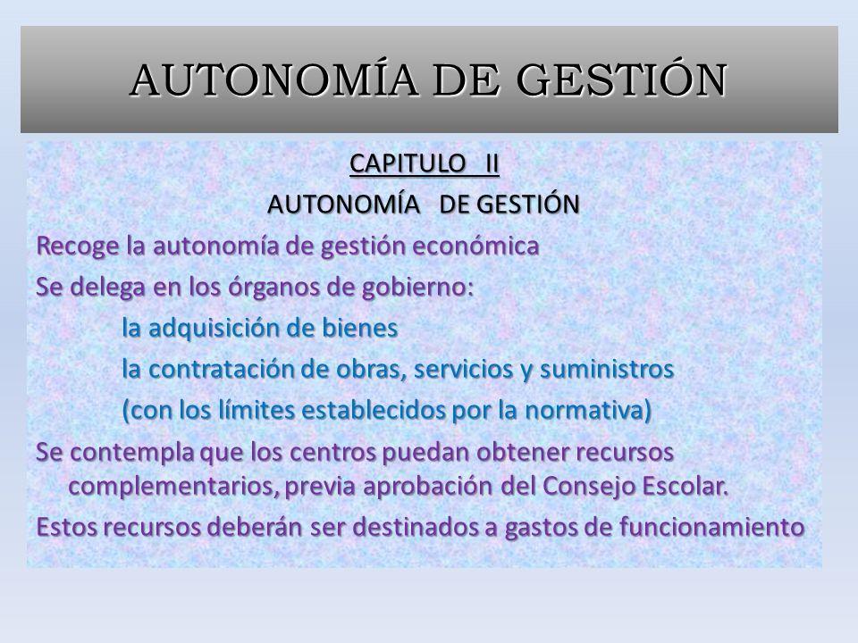 AUTONOMÍA DE GESTIÓN