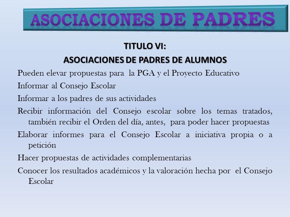 Asociaciones de padres ASOCIACIONES DE PADRES DE ALUMNOS