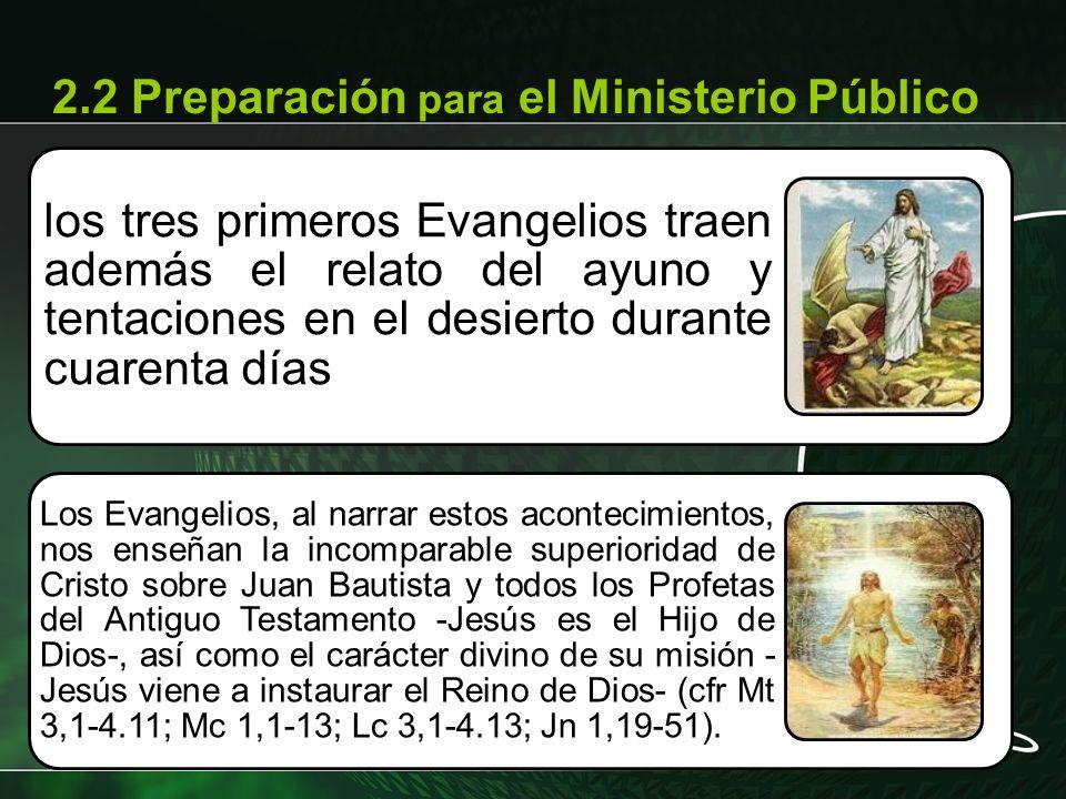 2.2 Preparación para el Ministerio Público