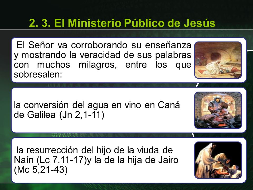 2. 3. El Ministerio Público de Jesús