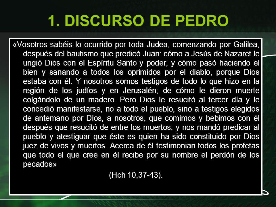 1. DISCURSO DE PEDRO