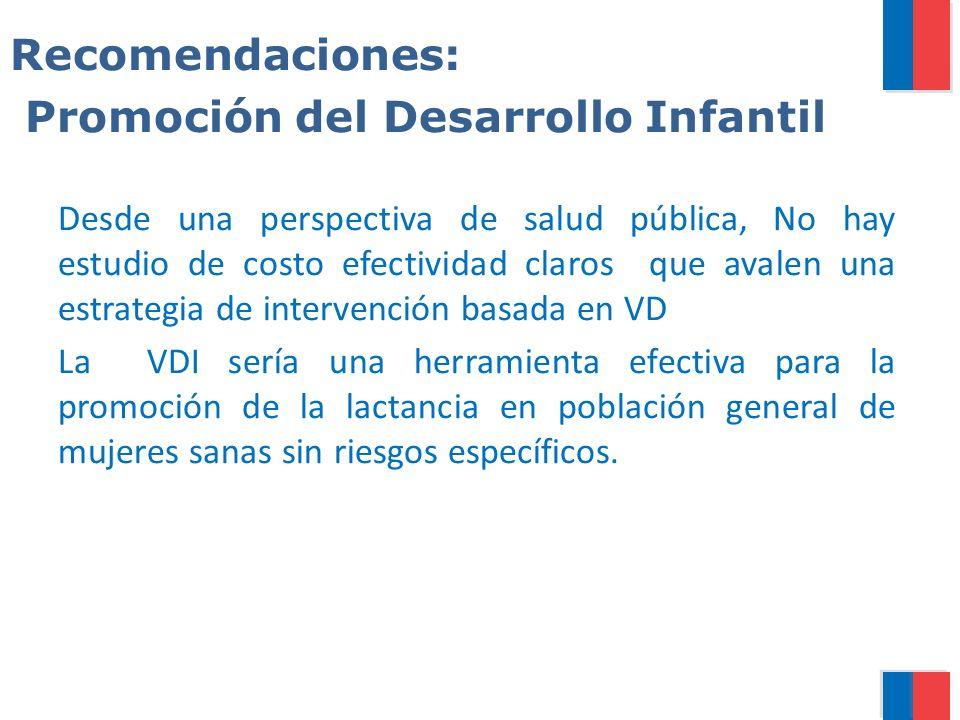 Recomendaciones: Promoción del Desarrollo Infantil