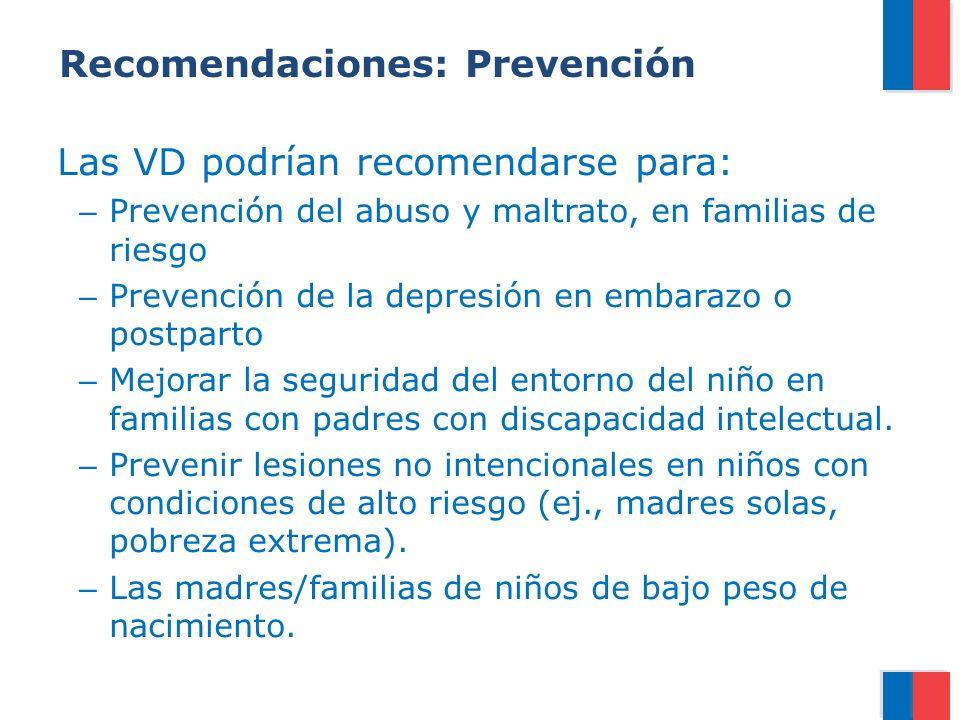 Recomendaciones: Prevención