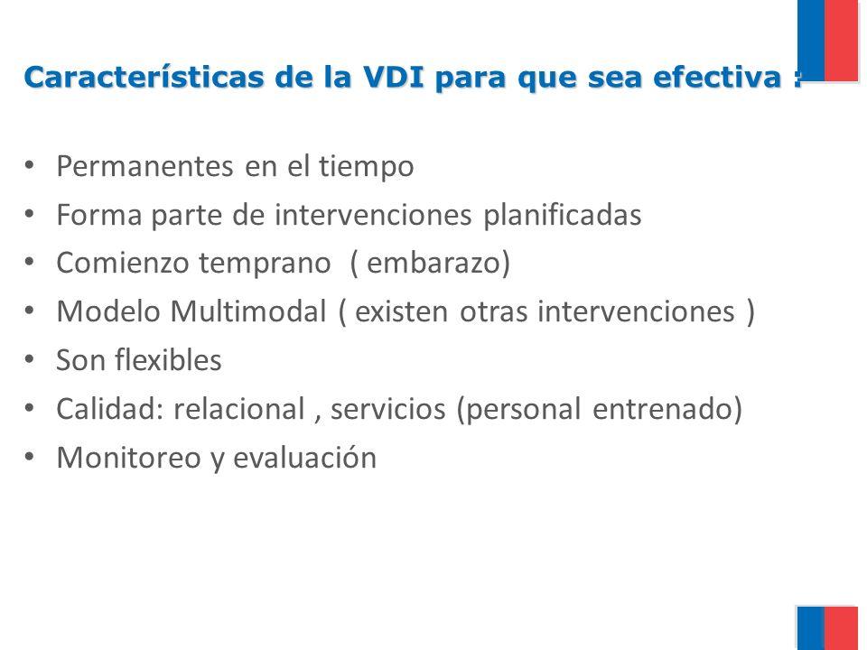 Características de la VDI para que sea efectiva :