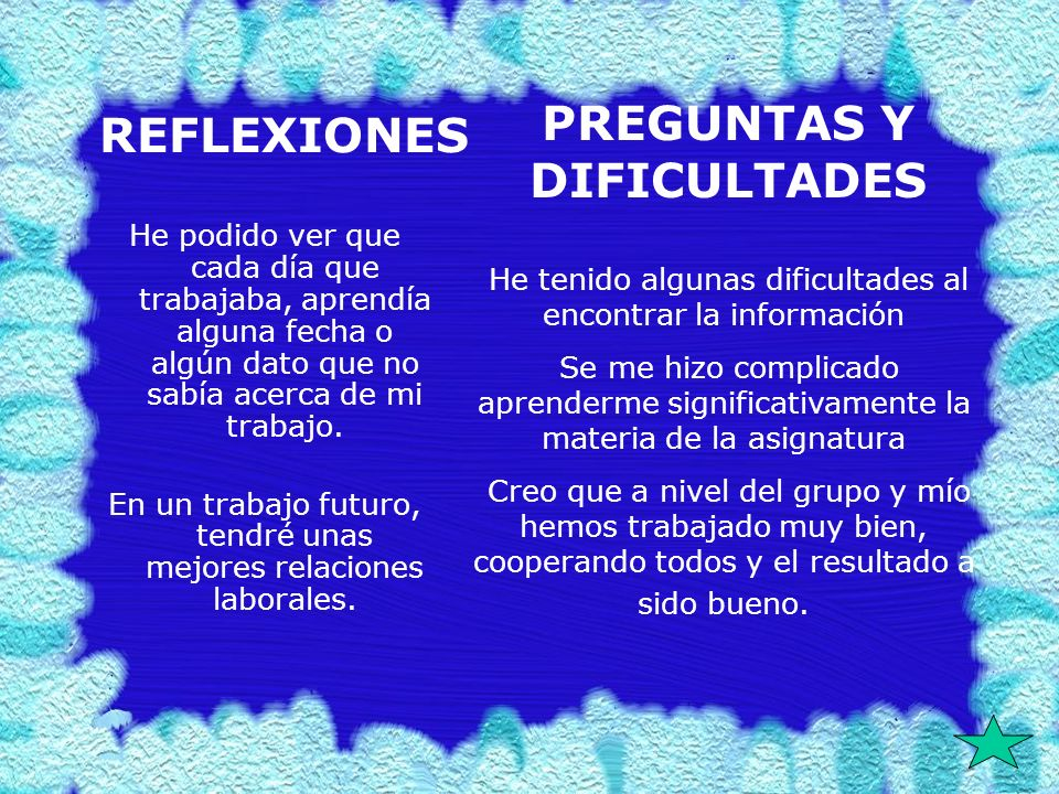 PREGUNTAS Y DIFICULTADES