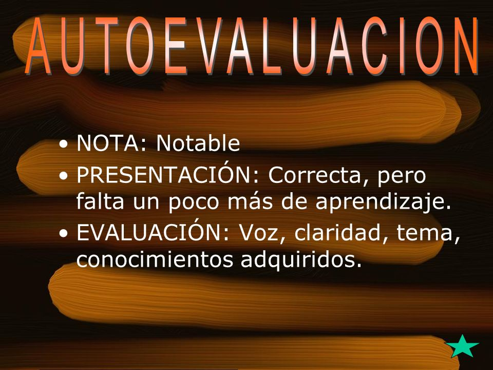 AUTOEVALUACION NOTA: Notable