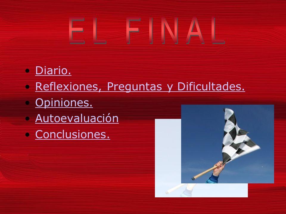 EL FINAL Diario. Reflexiones, Preguntas y Dificultades. Opiniones.