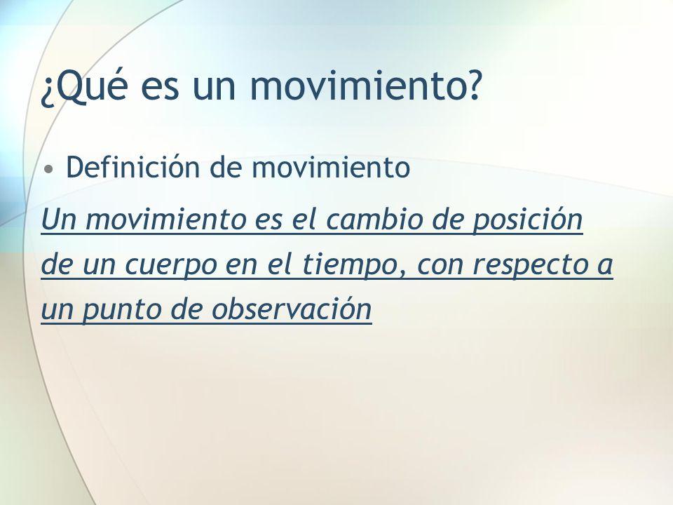 ¿Qué es un movimiento Definición de movimiento