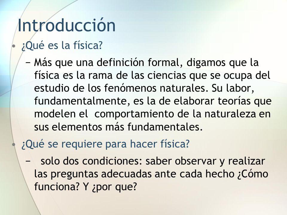 Introducción ¿Qué es la física
