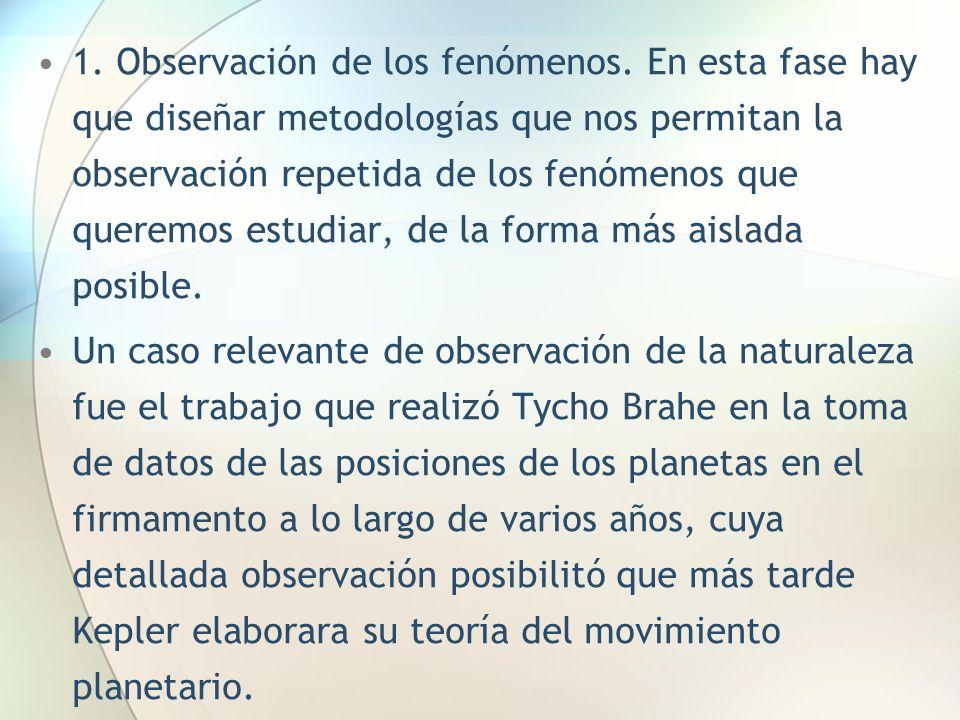 1. Observación de los fenómenos