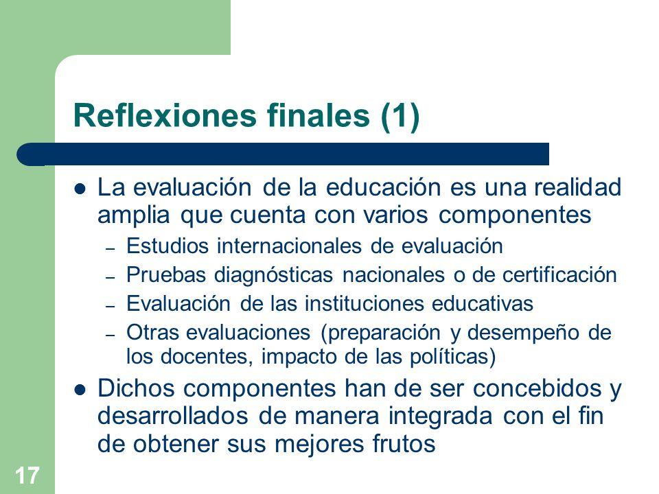 Reflexiones finales (1)