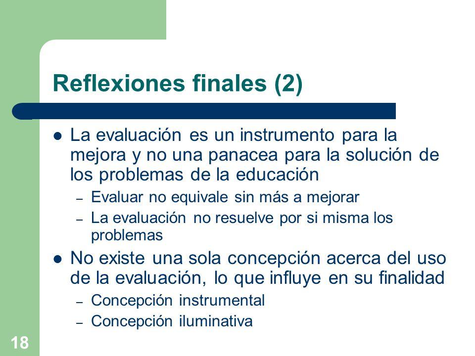 Reflexiones finales (2)