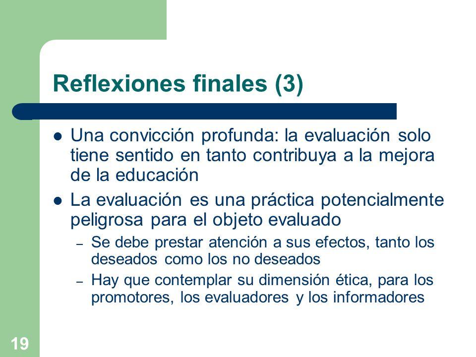 Reflexiones finales (3)