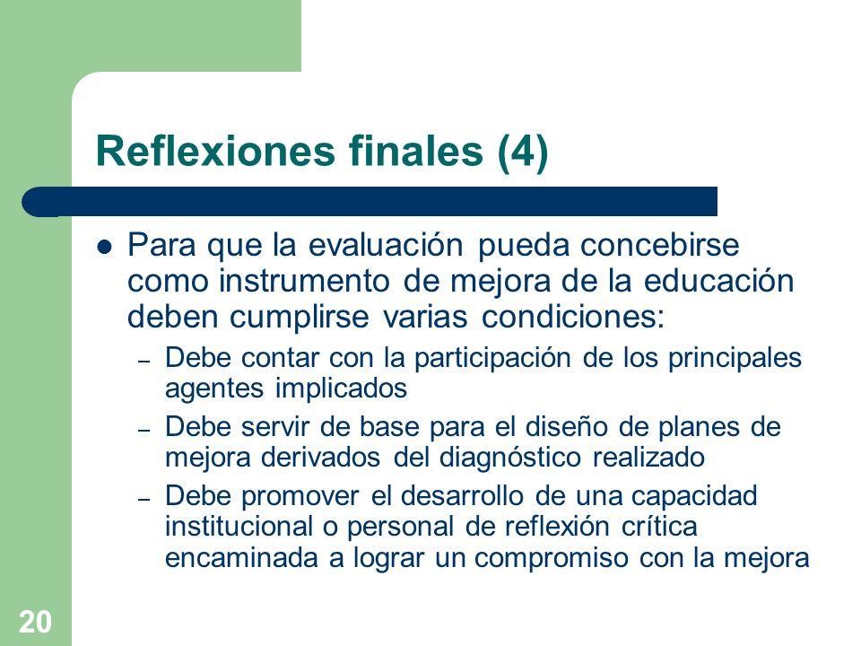 Reflexiones finales (4)
