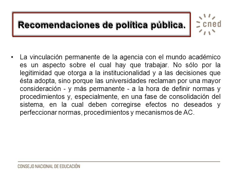 Recomendaciones de política pública.