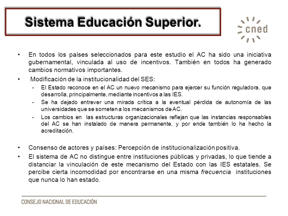 Sistema Educación Superior.