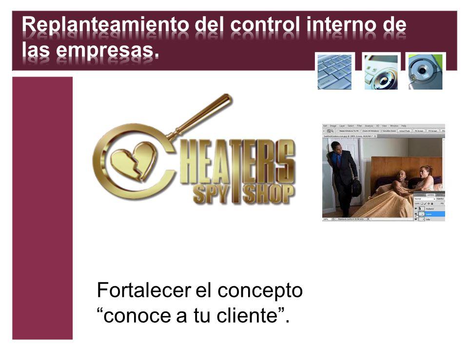 Replanteamiento del control interno de las empresas.