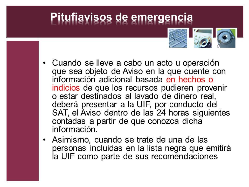 Pitufiavisos de emergencia