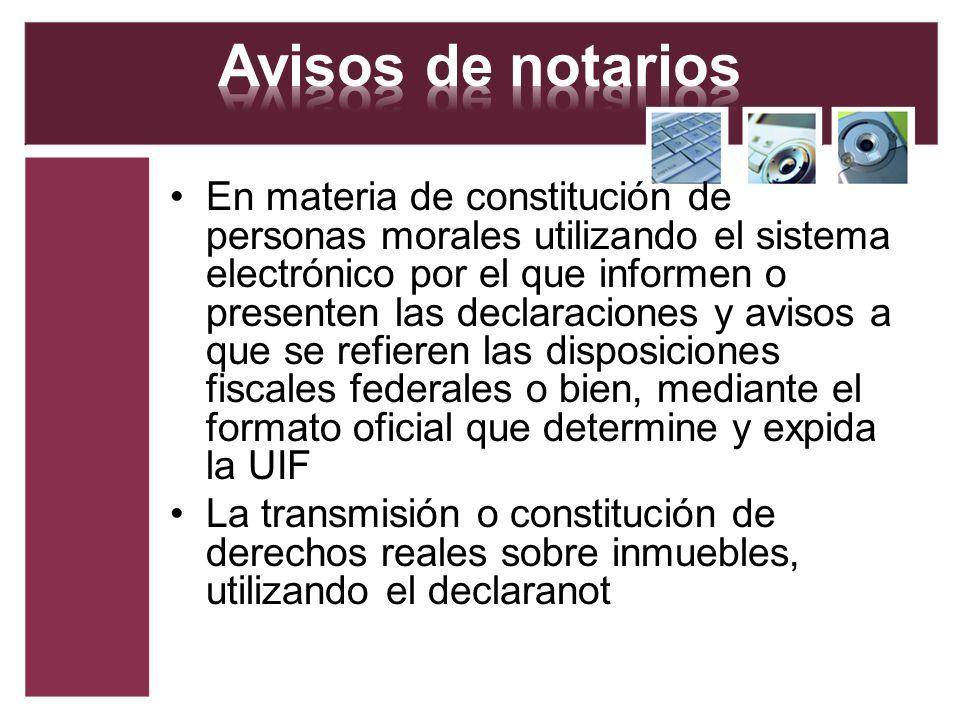 Avisos de notarios
