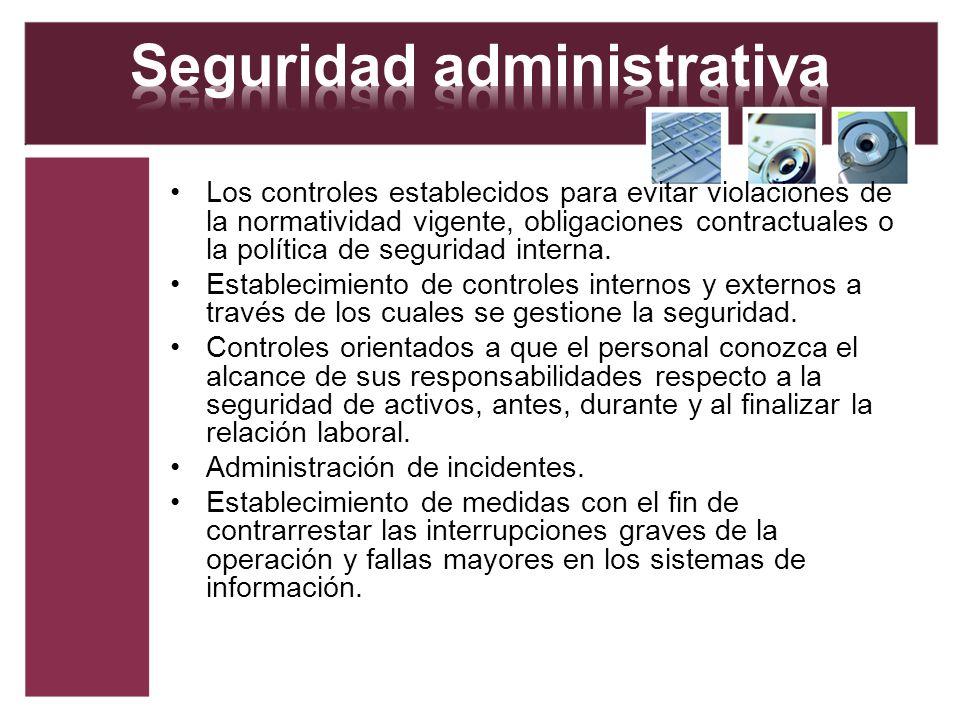 Seguridad administrativa
