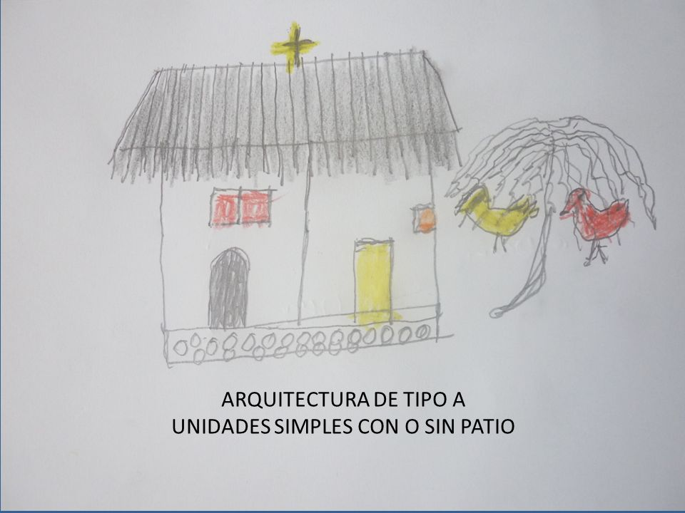 ARQUITECTURA DE TIPO A UNIDADES SIMPLES CON O SIN PATIO