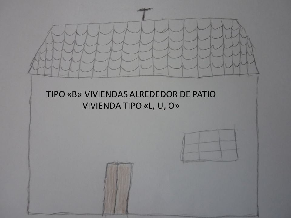 TIPO «B» VIVIENDAS ALREDEDOR DE PATIO VIVIENDA TIPO «L, U, O»