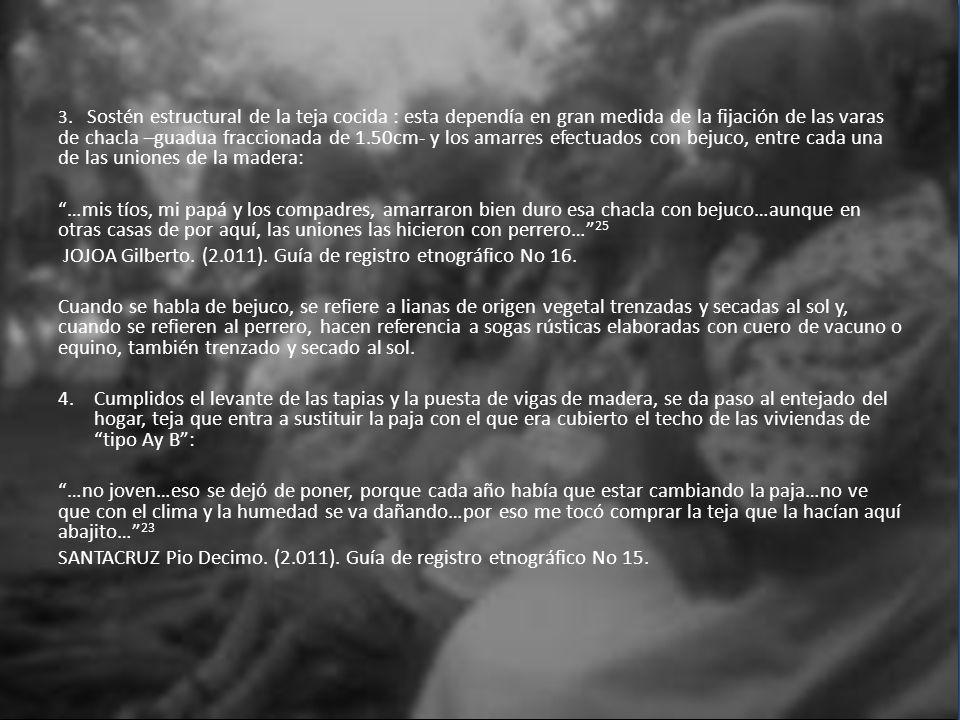 JOJOA Gilberto. (2.011). Guía de registro etnográfico No 16.