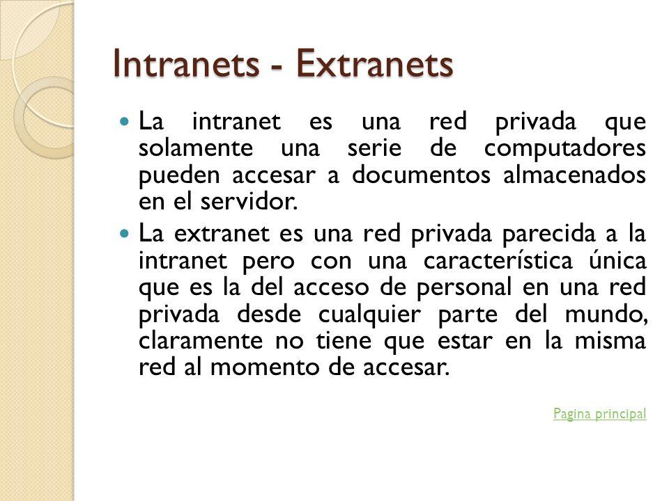 Intranets - Extranets