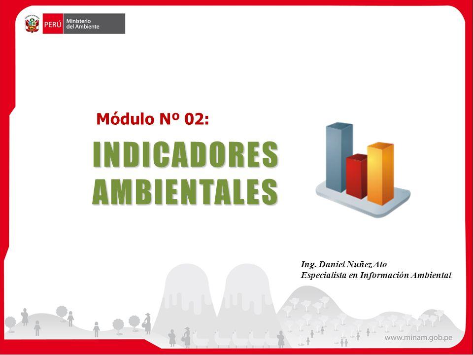 INDICADORES AMBIENTALES Módulo Nº 02: Ing. Daniel Nuñez Ato